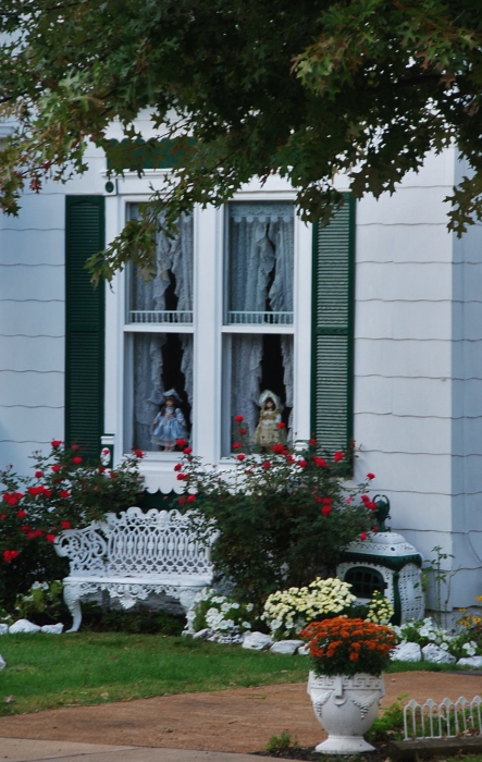 Dolls in windows, spooky or charming?