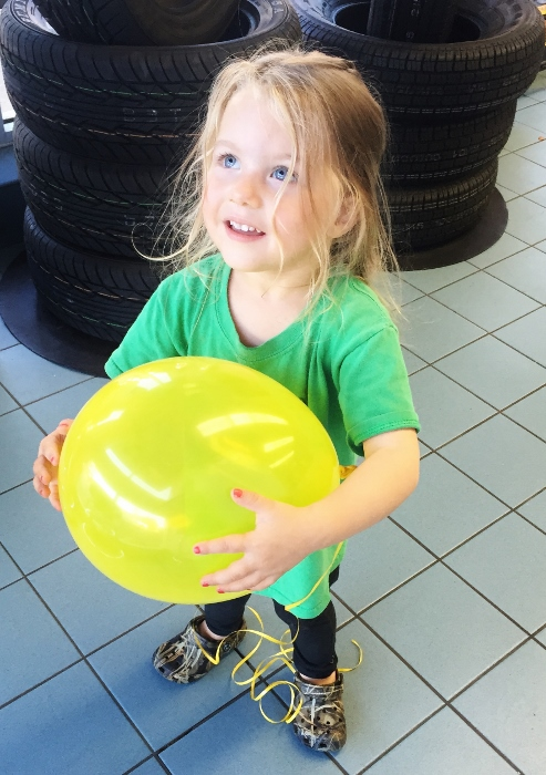 Baby...Getting tires rotated: SO FUN!!! hahaha when you're 3 (and 32)