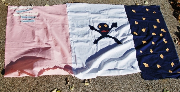 Flag, made by the Spy and girl from his preschool around 2010.
