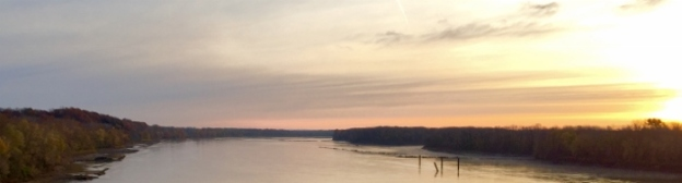 Missouri River; facing north/northeast from the Daniel Boone Bridge