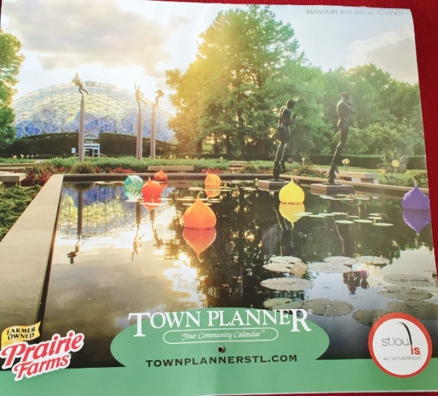 Free Calendar with a good shot of the Botanical Garden on the cover