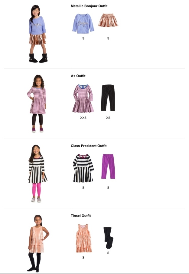 Four new outfits for Baby!