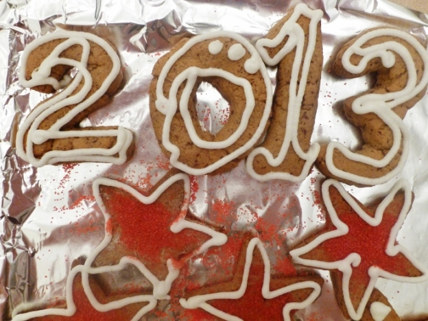 Gingerbread is not just for Christmas; use the leftover dough for New Year's cookies!
