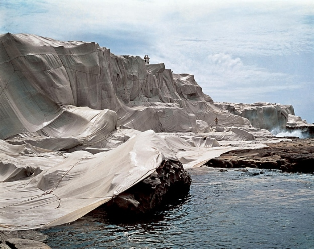 Wrapped Coast. Christo and Jeanne-Claude. Sydney Australia 1968-69 (source of image)