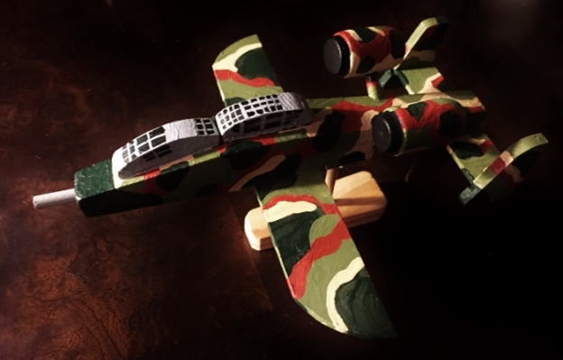 Painted model airplane