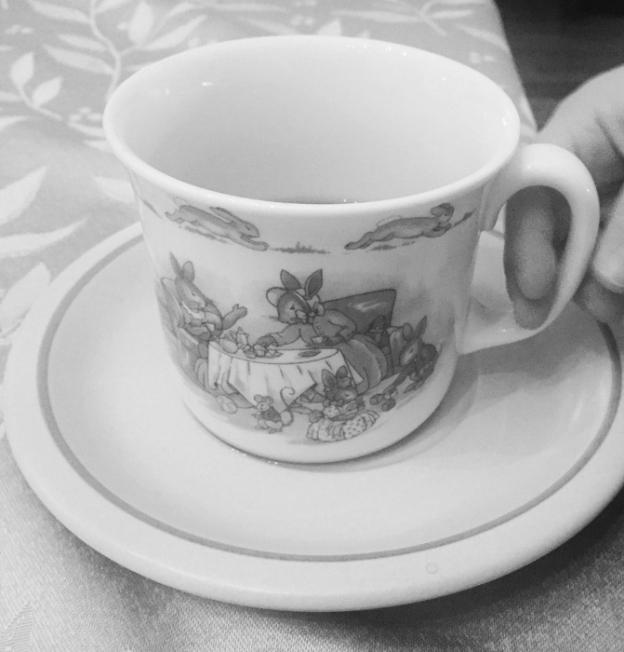 Enjoying a hot cup of tea