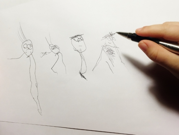 Draw...Baby is getting quite proficient at sketching...