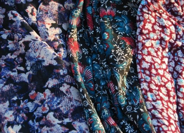 Dark floral prints...