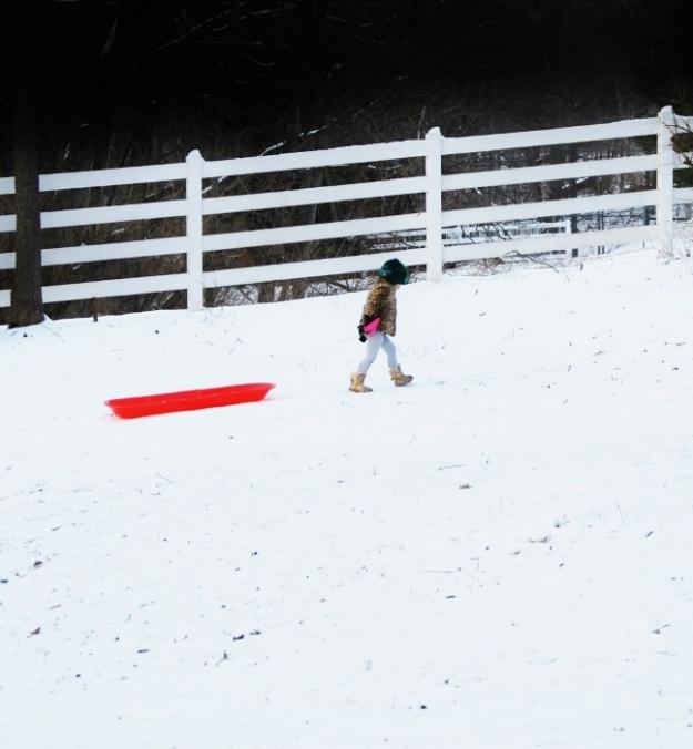 Baby sledding