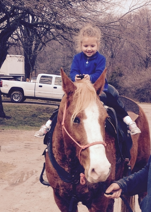Baby loves horses (and so do I!)