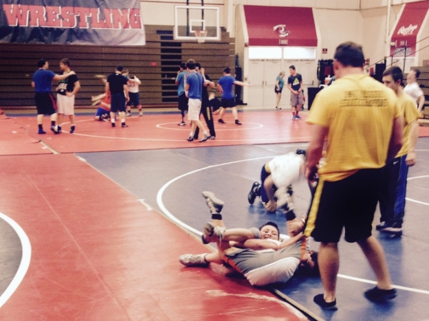 """Spladel"" hahah see the Spy? This is from a free wrestling clinic at a local university."