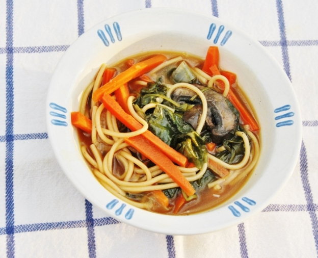 Carrot, Kale and Mushroom soup in broth Mmmm!