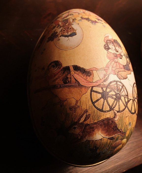 A metal egg