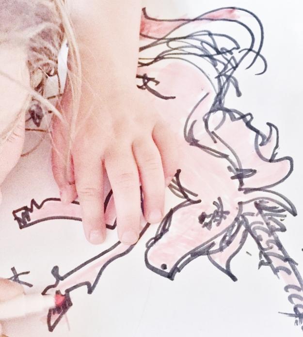 Coloring a unicorn...