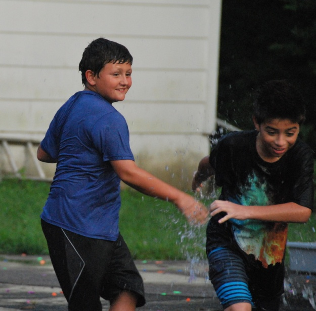 The end of VBS ended with a water balloon fight; a long-standing tradition!