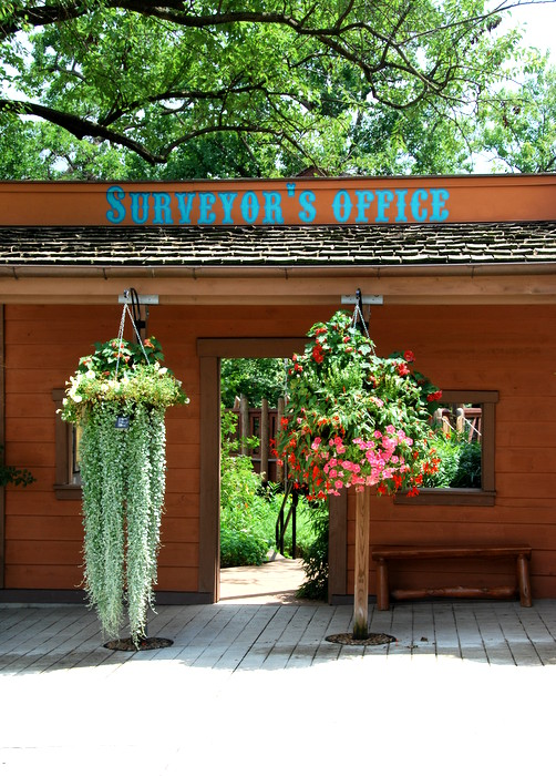 The children's garden is set up like an old west town. I saw so many beautiful hanging baskets!