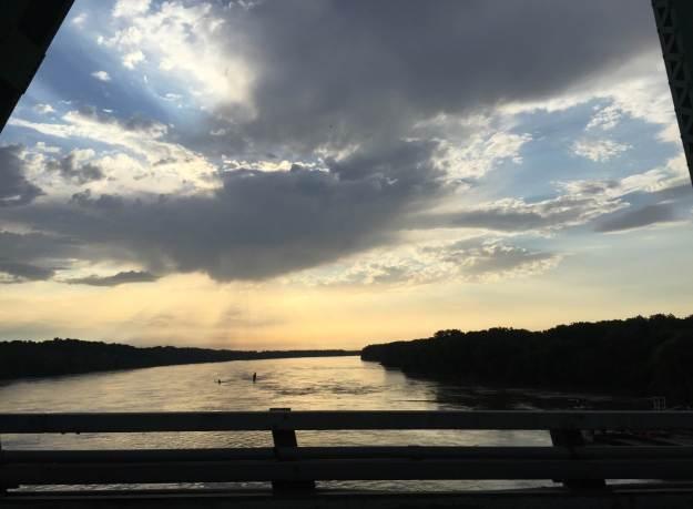 Missouri River sunrise (taken from the Daniel Boone Bridge)
