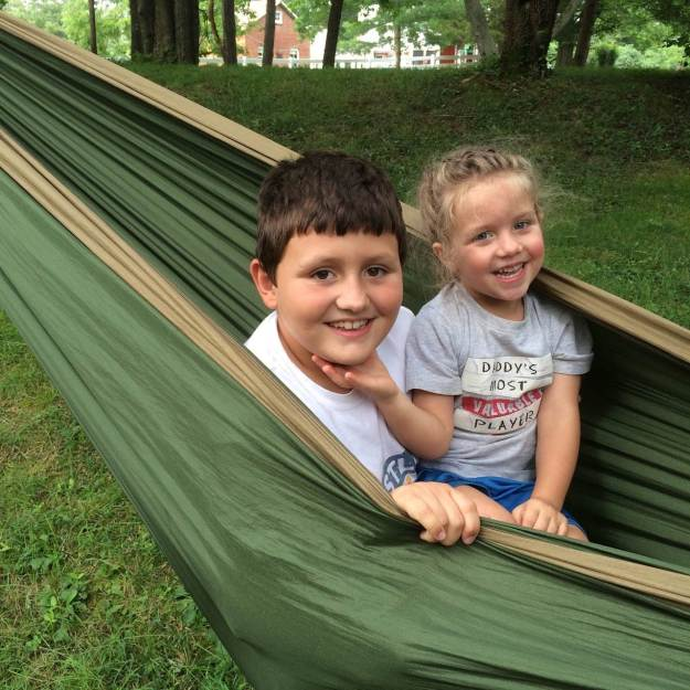 Our awesome new eno hammock! (thanks Nana & Pop!)