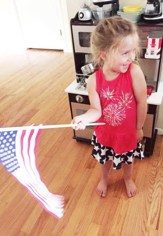 Patriotic Babyzilla