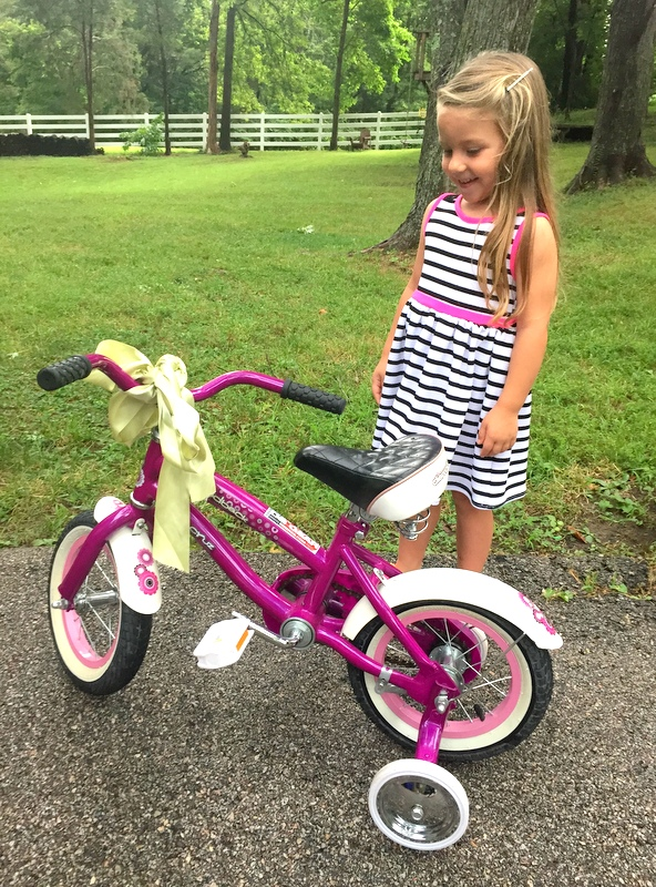 Baby's first bike!