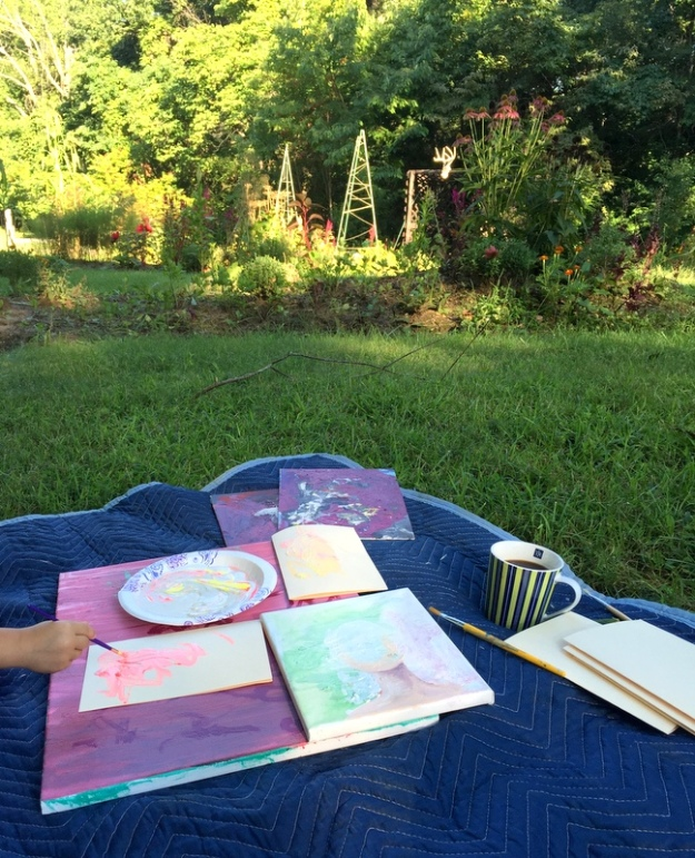 Painting in the garden; a perfect morning!