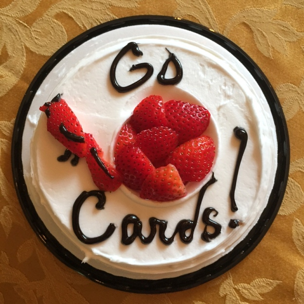 Cardinals Cake! Woo! The cards are in the playoffs!