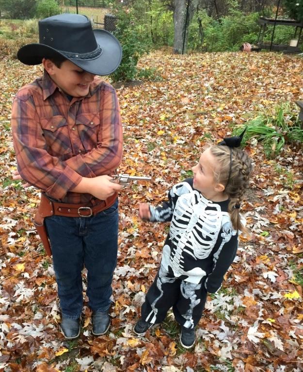 Cowboy and Skeleton