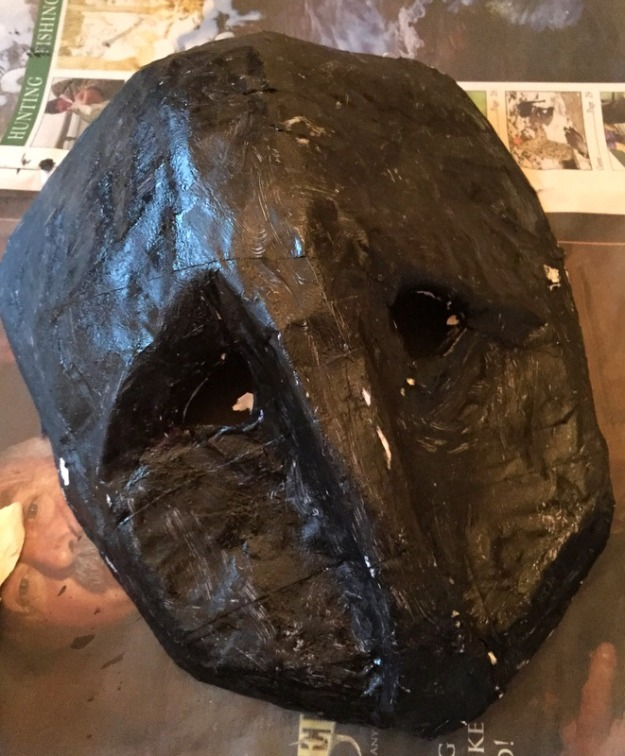 Mask (used a plastic milk jug as a mold)