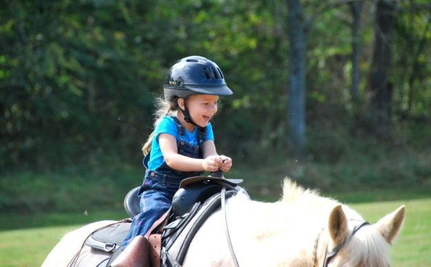 Babyzilla on horseback