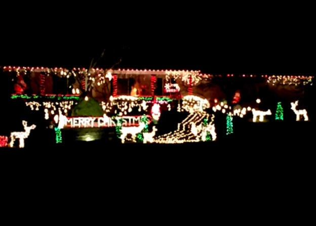 We've enjoyed driving around looking at lights; this house has a great display