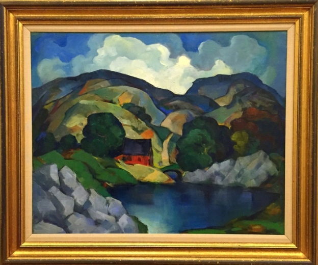 E. Oscar Thalinger. River Landscape with House. 1928