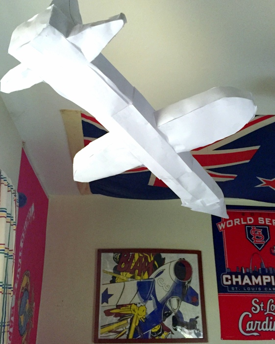 Paper airplane (made by the Spy)