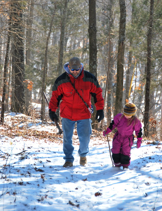 Setting off on a winter hike