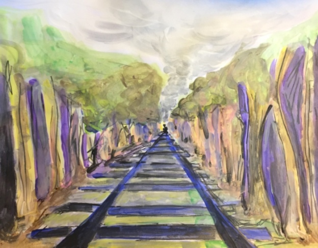Train painting