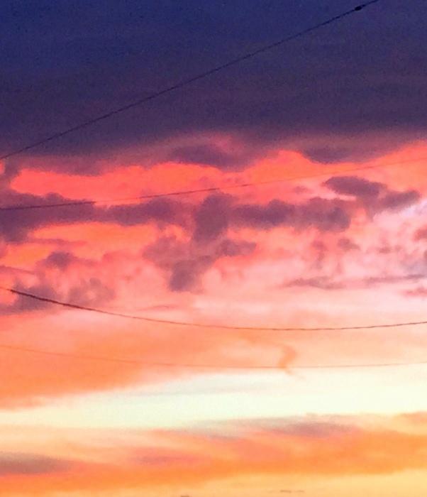 A painterly sky
