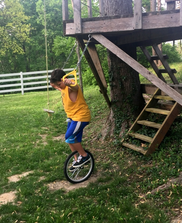 Unicycle practice! (It is hard!)