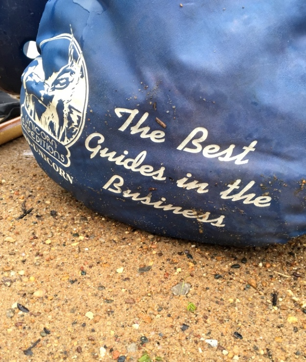 Raft guide gear bag from Unicorn Expeditions (where Smoochie and I met as raft guides!)