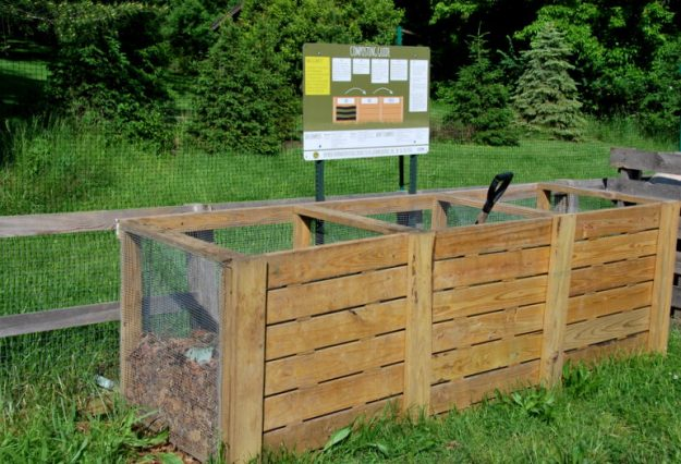 And check out this cool composting set-up; complete with instructions!