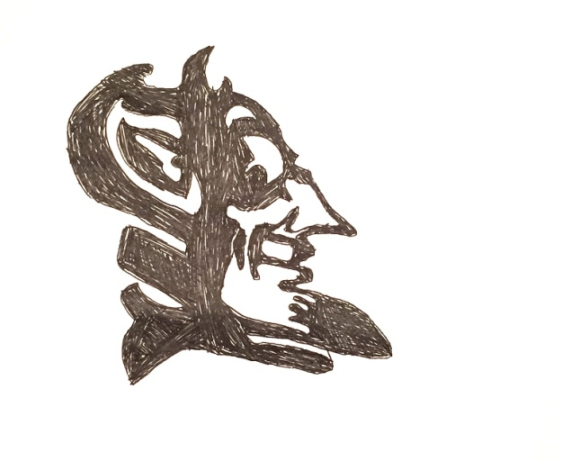 The Spy has been sketching a lot of sports logos lately; this is the Duke University logo; drawn freehand!