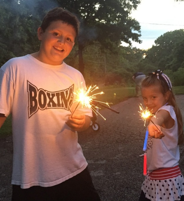 Sparklers are my favorite
