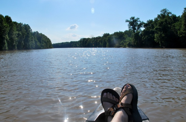 My brown chacos match the water! haha