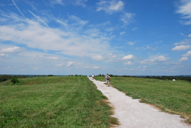 This is at the top of Monk's Mound; you can see it is quite vast!