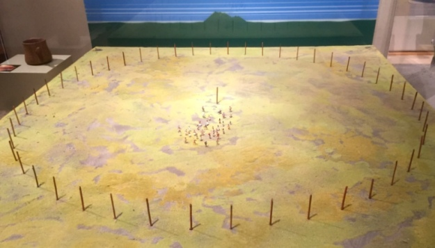 "A model of ""Wood Henge"" (like a giant sundial calendar thing)"