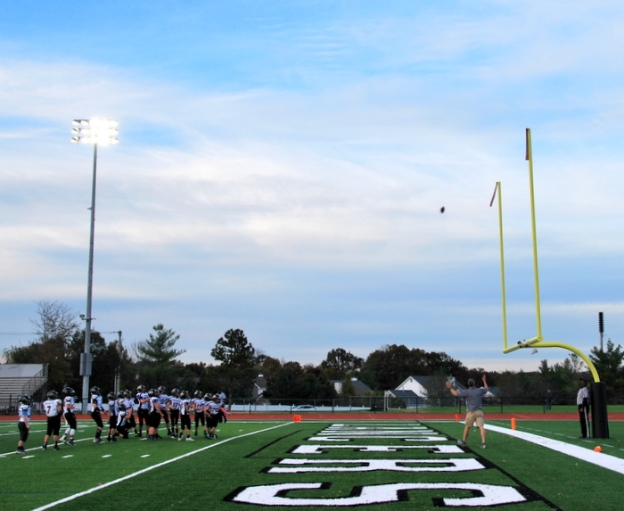 We had two great field goals ...the score was 12-16 until the last four minutes and they scored. So close!