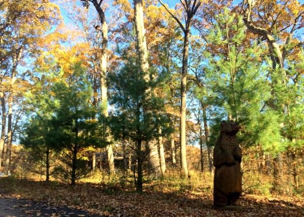 Bear sculpture near Spy Garden