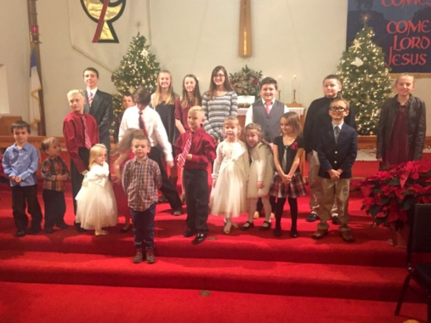 The kids did a great job with the Christmas service