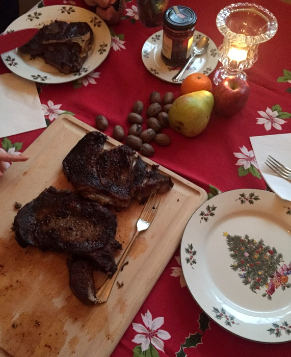 Christmas steaks