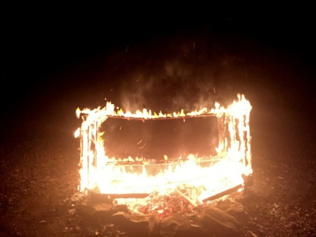 Christmas Couch Burning