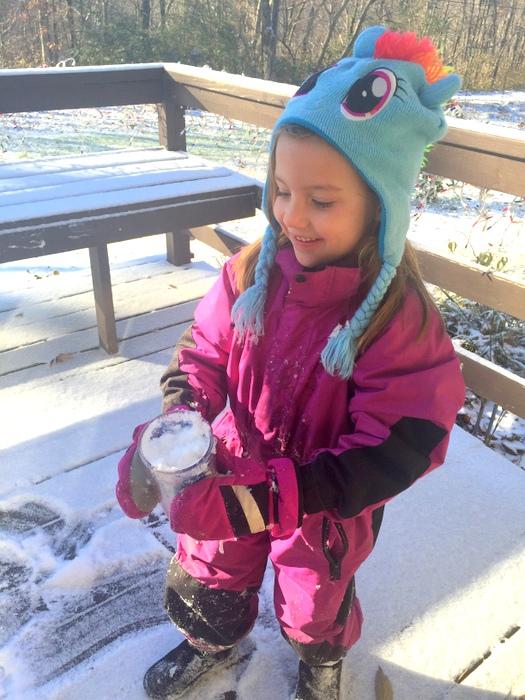 Tasty snow!